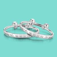 925 pulsera de plata de ley para el bebé Del estilo Chino de la campana colgante de plata Maciza pulsera joyería infantil Envío gratis