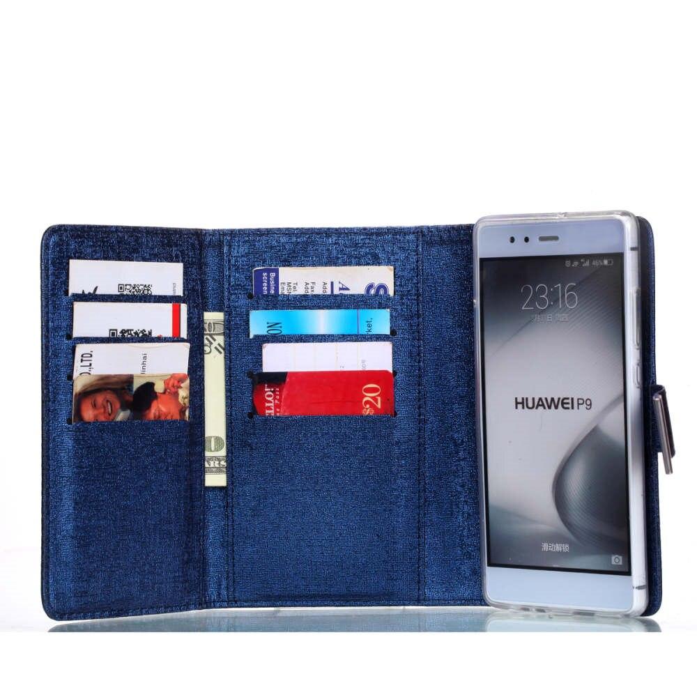 Чехол для телефона Huawei p9 плюс роскошный Съемная Винтаж три раза кожаный чехол флип бумажник силикона P10 Plus/P9 крышка Fundas