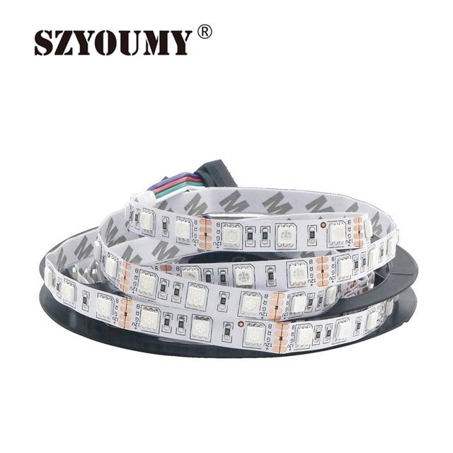 SZYOUMY 100M LED Strip 5050 DC12V Flexible LED Light 5M/LOT IP20 Nonwaterproof/ IP65 Waterproof /IP67 Tube Waterproof  60LED/m