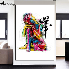 1 шт. холст дзен арт живопись красочный Будда Чан медитация Будда дзен живопись Бесплатная доставка ny-6640C