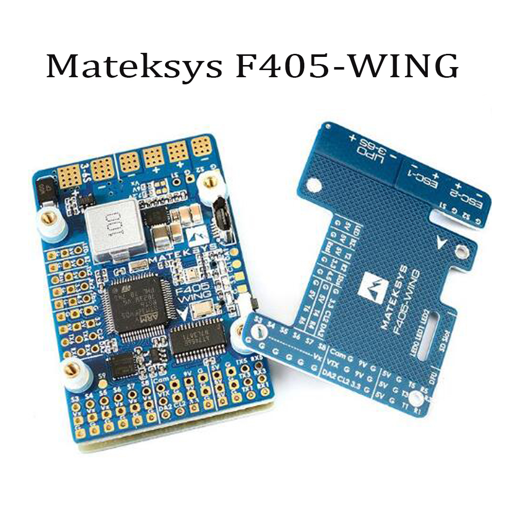 купить Matek Systems F405-WING F405 Flight Controller Board Built-in inverter for SBUS input RC Drone For RC Drone Quadcotper по цене 2712.42 рублей