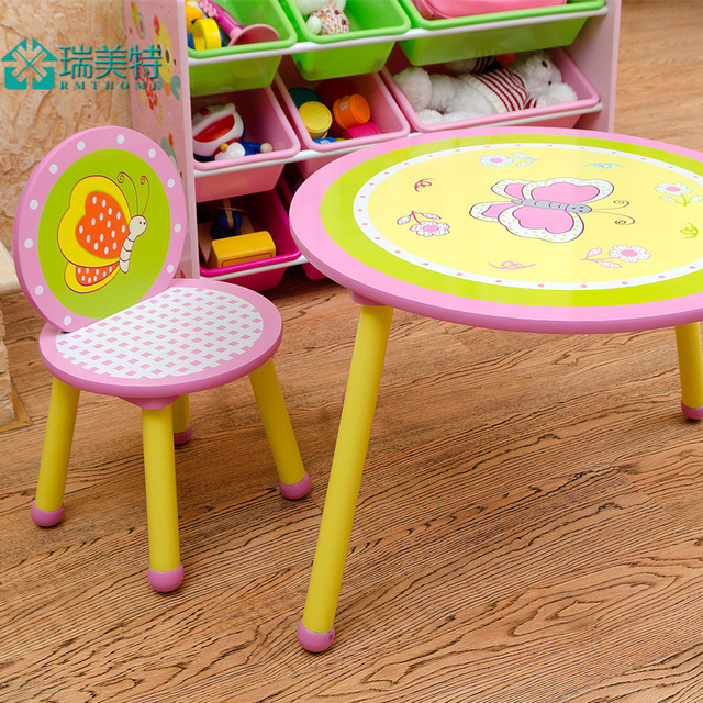 The New Children S Cartoon Nursery Baby Chairs Desk Study Tables And Ensemble Writing Desks