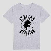 Yeni stil ROCKY BALBOA film tema T-shirt Erkek ve kadın moda T-shirt kısa kollu Karikatür görüntü ile
