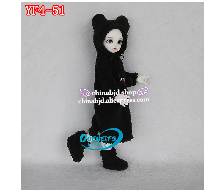 OUENEIFS girl boy baby long Hooded jumpsuit hyoma Chuzzl send socks luts volks iplehouse switch 1/4bjd sd doll clothes, YF4-51 oueneifs girl long skirt pink lace dress free cappa bjd sd clothes 1 4 body clothes yf4 47 luts volks ip switch fairyland