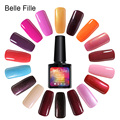 Belle Fille 1 Piece Gel Nail Polish Candy Colors UV Gel Varnishes Colorful Lacquer Nail Gel Polish 237 Colors Nontoxic Gel