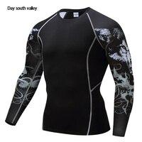 Одежды для фитнеса Каратель рубашка сжатия Для мужчин дышащая быстросохнущая футболка Бодибилдинг Топ Crossfit Вес подъема База Слои