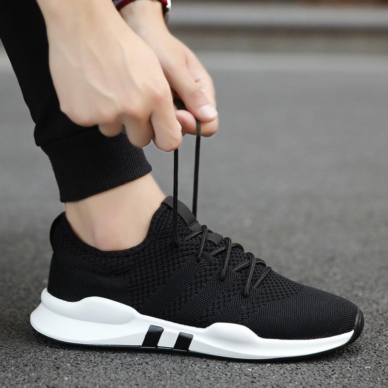 2018 nuevos Ultra-Light hombres casual zapatos Mesh Breathable Man - Zapatos de hombre
