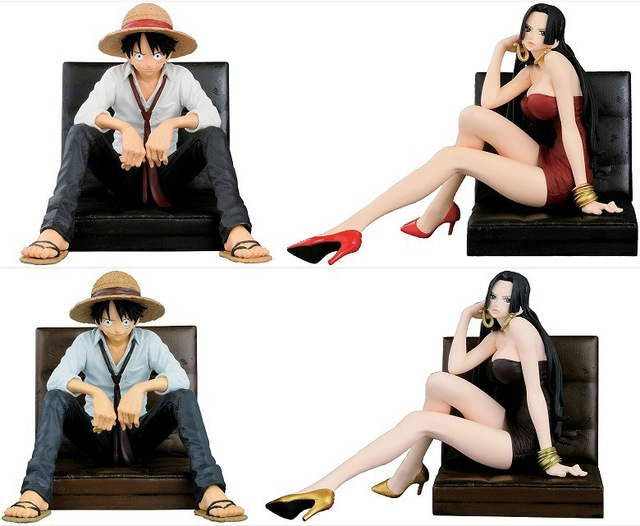 One Piece Monkey D Luffy Boa Hancock 12CM PVC Anime Action Figures Collectible Model Toys Doll