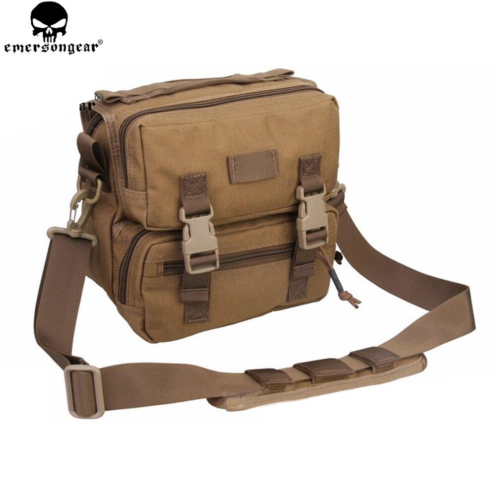 Emersongear Molle Messenger Bag Camouflage Shoulder Bags Camping Hunting Travel Hiking Single Sling Pack Trekking Bag EM5801 цена