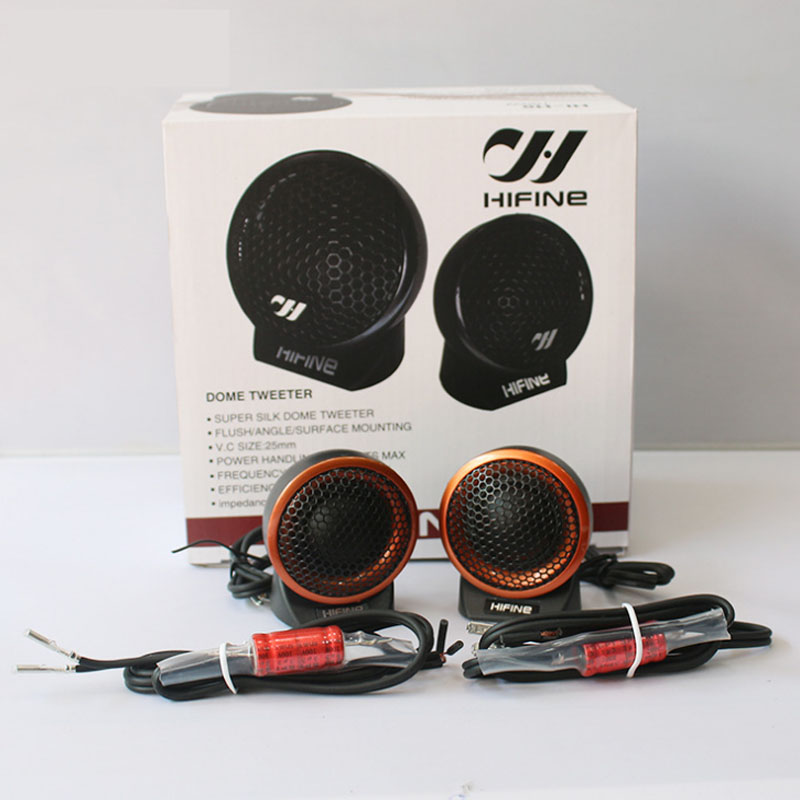 High Quality Car Speaker Dome Tweeter With Capacitor Great Sound Quality Vehicle Auto Music Stereo Modified Loud Speakers