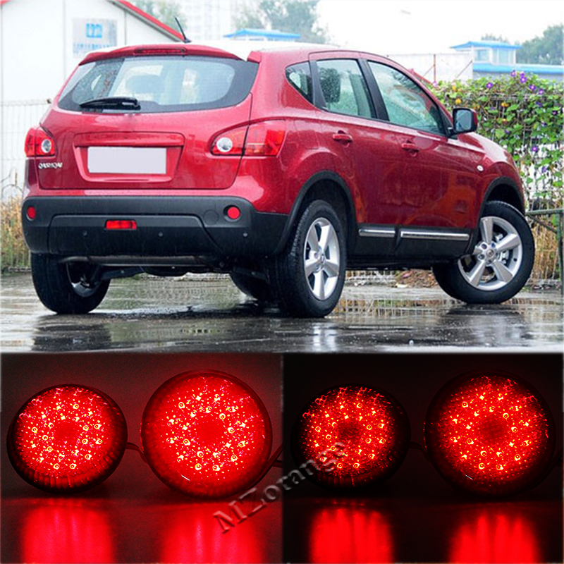 2Pcs Car LED Tail Rear Bumper Reflector Lights Round Brake Stop Light Warning Lamp for Nissan/Qashqai/Trail/Toyota/Corolla new for toyota altis corolla 2014 led rear bumper light brake light reflector novel design top quality fast shipping