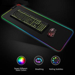 Image 5 - RGB Soft Gaming Mouse Pad Large Oversized Glowing Led Extended Mousepad Non Slip Rubber Base Computer Keyboard Pad Mat