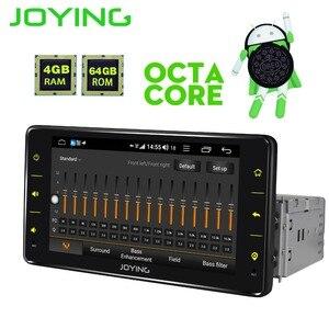 Image 3 - JOYING een din autoradio Android 8.1 4GB Ram 64GB Rom ondersteuning 3G/4G Octa core GPS stereo FM AM DSP 6.2 inch universele autoradio