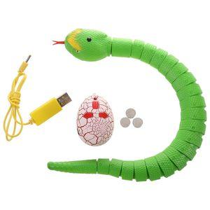 Image 2 - Juguete de serpiente RC, serpiente de Control remoto recargable con juguetes de Control de Radio de huevo interesantes para niños