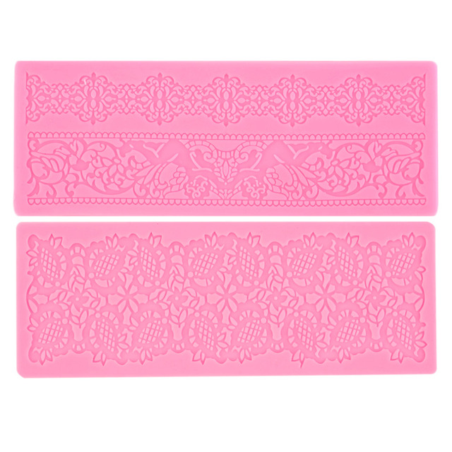 1Pc Lace Silicone Fondant Embossing Mold Cake Gum Paste Decorating DIY Mould Popular New