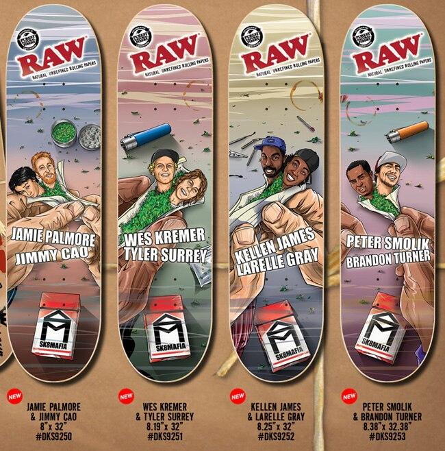 d06d8e92efd Sk8mafia pinacoidal raw series skateboard-in Skate Board from Sports ...