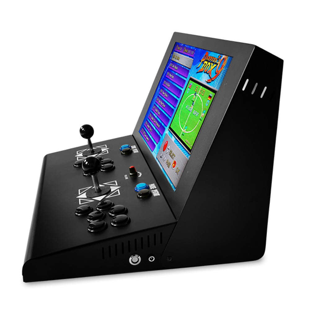 19 inch LCD Mini table top machine with Classical games 1500 In 1 Game PCB Long shaft joystick Mini verticle type arcade machine in Coin Operated Games from Sports Entertainment