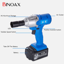 1/2'' Li-ion 0-3200Bpm 4.8Ah 280N.m Electric Impact Wrench Car Tyre Wheel Wrench Cordless Drill #ND01035#