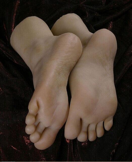 Envío libre! 22 cm 38 # silicona interior-hueso pie falso, interior-hueso silicona dentro, dedo del pie se mueven libremente, Pies modelo, zapatos modelo 063b55