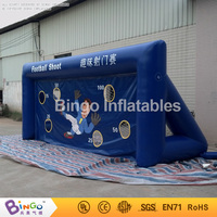 6*3.5M PVC inflatable Blue football shooting gate inflatable football target for playground with blower BG G0017 sport toy