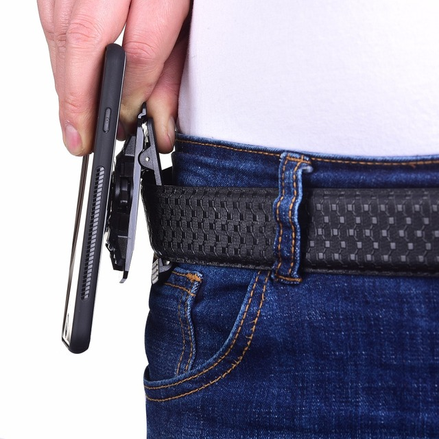 promo code 720c7 567e0 US $11.93 25% OFF|Universal cell phone Belt Clip for iPhone X Xr Xs Max  iPod note9 S9+ S10+ xiaomi magnetic sport Mobile Holster waist Belt  holder-in ...