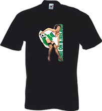 KOM OP NOORD-IERLAND Voetbal T-shirt MENS SEXY PIN UP GIRL 2017 VOETBAL TOPS Cool Casual trots t-shirt mannen Unisex Nieuwe (1)(China)