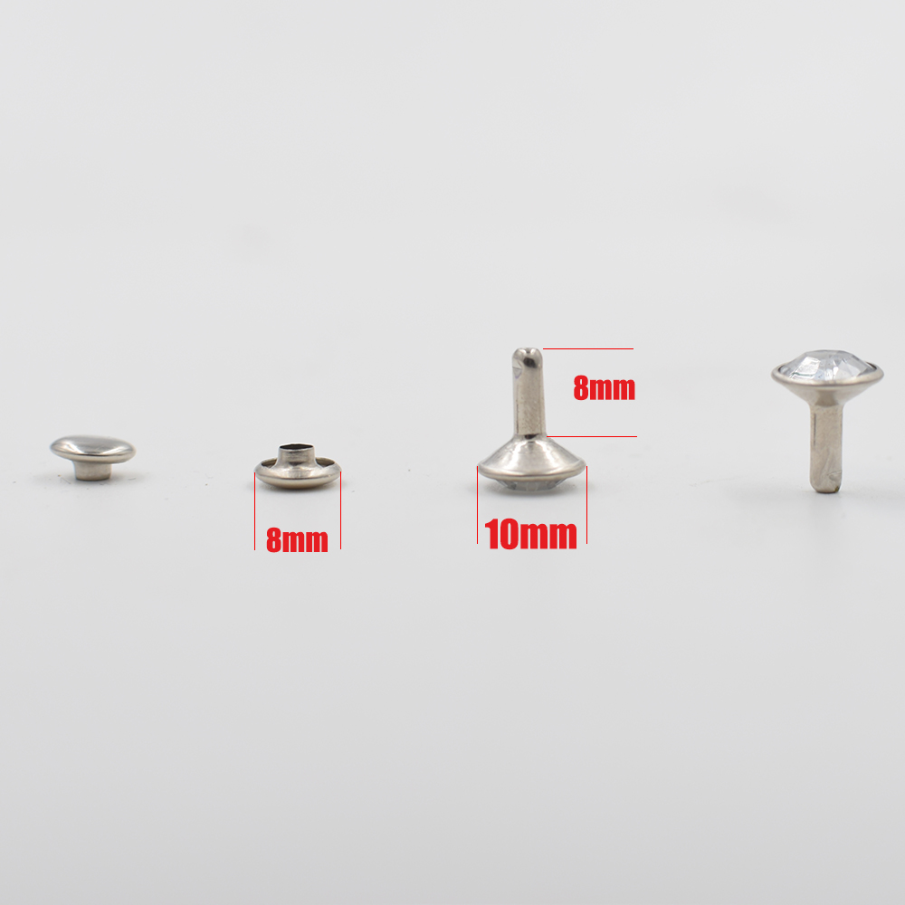 100 sets/lot.Color diamond rivets. 10mm drill buckle. DIY bags decorative nails. Acrylic g rive Sewing repair. Clothing & Access