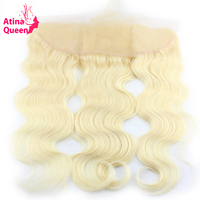 Atina Queen 613 Blonde Frontal Body Wave 13x4 Ear To Ear Lace Frontal Closure With Baby