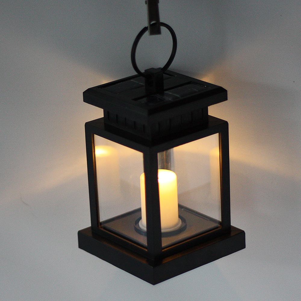Classic Outdoor Solar Power Twinkle Yellow LED Candle Light Yard Garden  Decoration Umbrella Tree Lantern Hang Hanging Lamp In Solar Lamps From  Lights ...