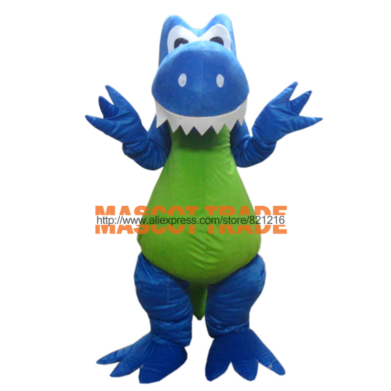 Funny Blue Dragon adult Mascot costume Size for Halloween party costumes