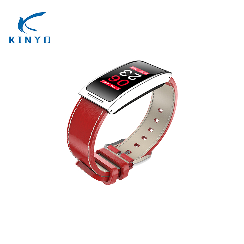 Smart Bracelet blood pressure woman Smartband Waterproof female physiological remind Leather sports Wristband pk xiomi mi band 3 Браслет