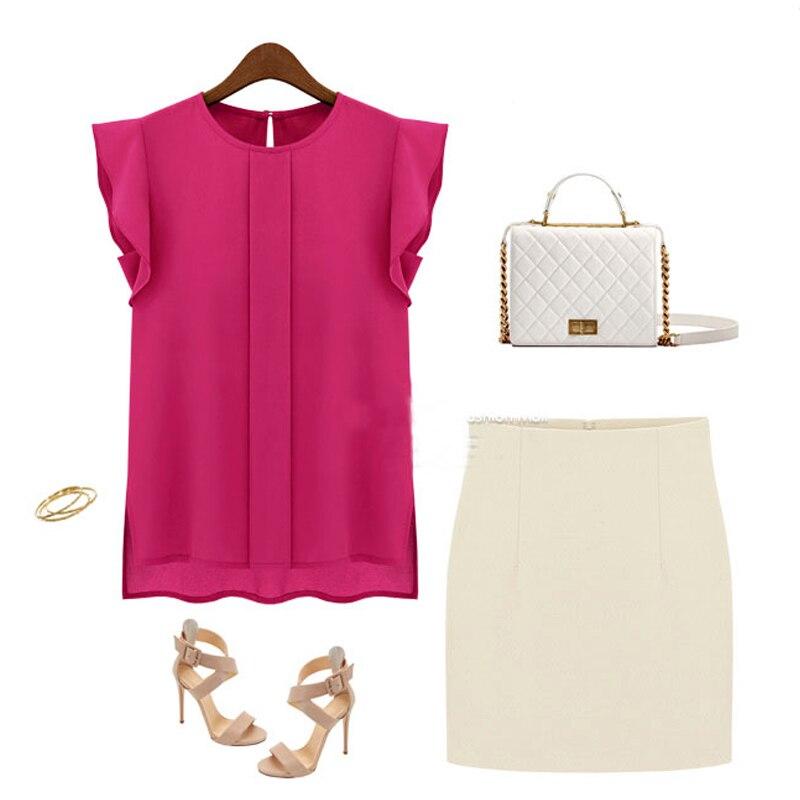 2019 Summer EFINNY Fashion Women   Blouses   Lady Sleeveless   Blouse   Women Tops OL Lady   Blouse   Chiffon Sleeveless   Shirt   3 Colors
