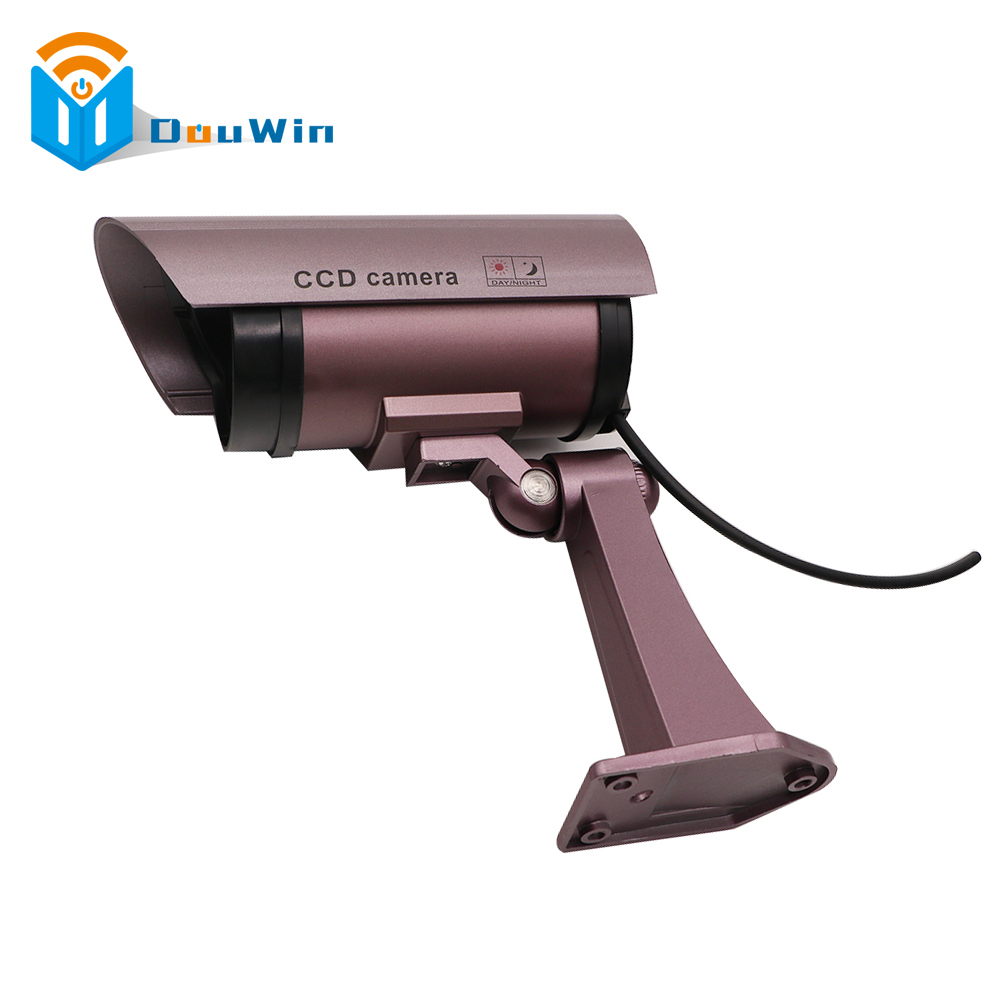 Fake Camera Imitation CCTV Security Camera Security Outdoor Indoor Fake Dummy with Blinking Flashing Light Bullet Shape Camera waterproof dummy cctv camera with flashing led for outdoor or indoor realistic looking fake camera for security