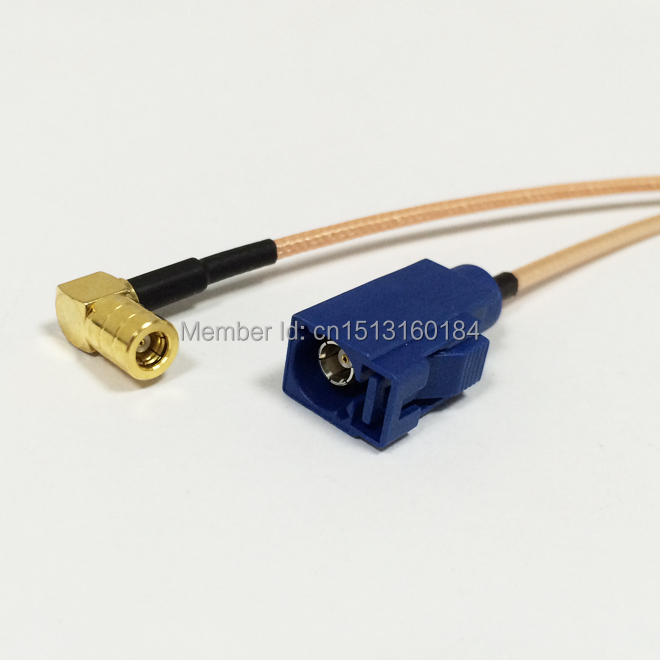New Modem Coaxial Pigtail SMB  Female Right  Angle  Connector Switch  FAKRA  Connector  RG316 Cable 15CM 6