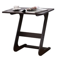 Modern Unique Z Shape Console Coffee Tray Laptop Eating Sid Table Strong Premium MDF Painted Finish Wide End Tables HW56267BR