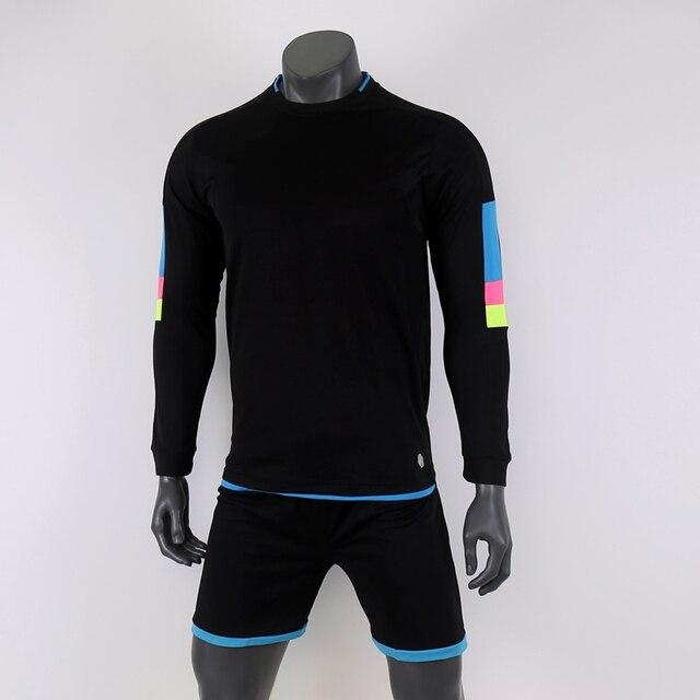 38d5e824d1218a black 18/19 Full sleeve soccer jerseys Long football team sets training  kits Customized Sports wear quick dry Autumn Winter A400