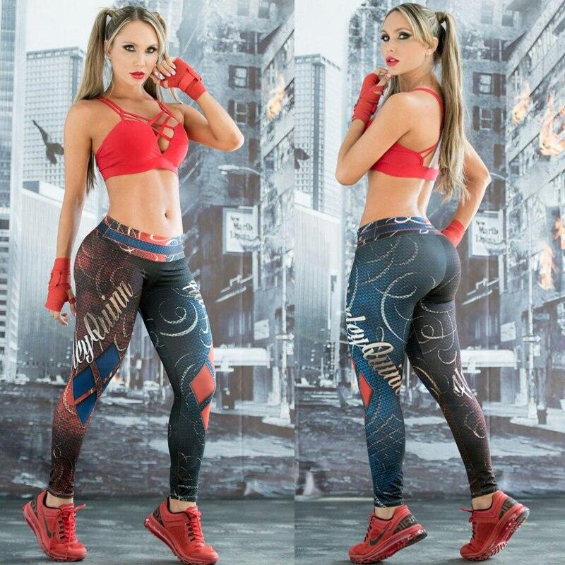 Harley Quinn BATMAN Gym Yoga Leggins Hose frauen Sport Leggings Engen Elastische Workout Fitness Gamaschen Läuft Sport Hose