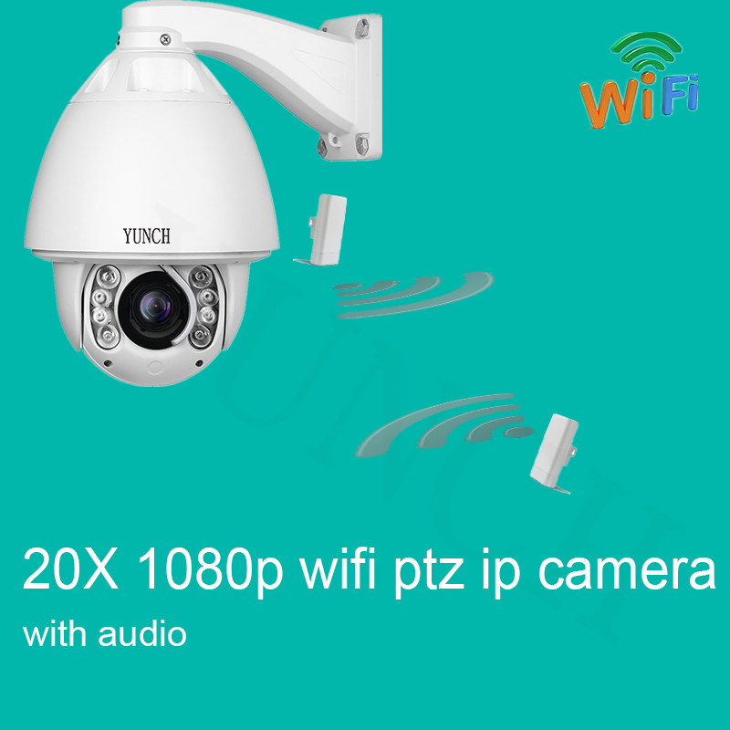 1080P WIFI  auto tracking ptz ip camera with audio wireless P2P ONVIF 20X zoom IR outdoor ip camera 30x zoom camera ptz wireless onvif 960p auto tracking wireless wifi infrared ip camera support audio