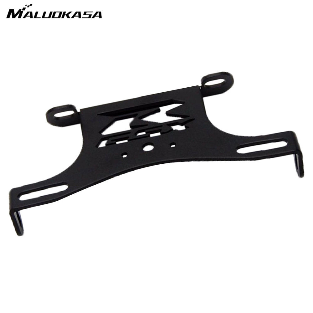 MALUOKASA Motorcycle Fender Eliminator Tail Tidy License Plate Bracket For Suzuki GSXR600/750 2008 2009 2010 Tail Light Holder maluokasa motorcycle fender eliminator tail tidy for suzuki hayabusa gsx1300r 2008 2009 motor license plate tail light bracket