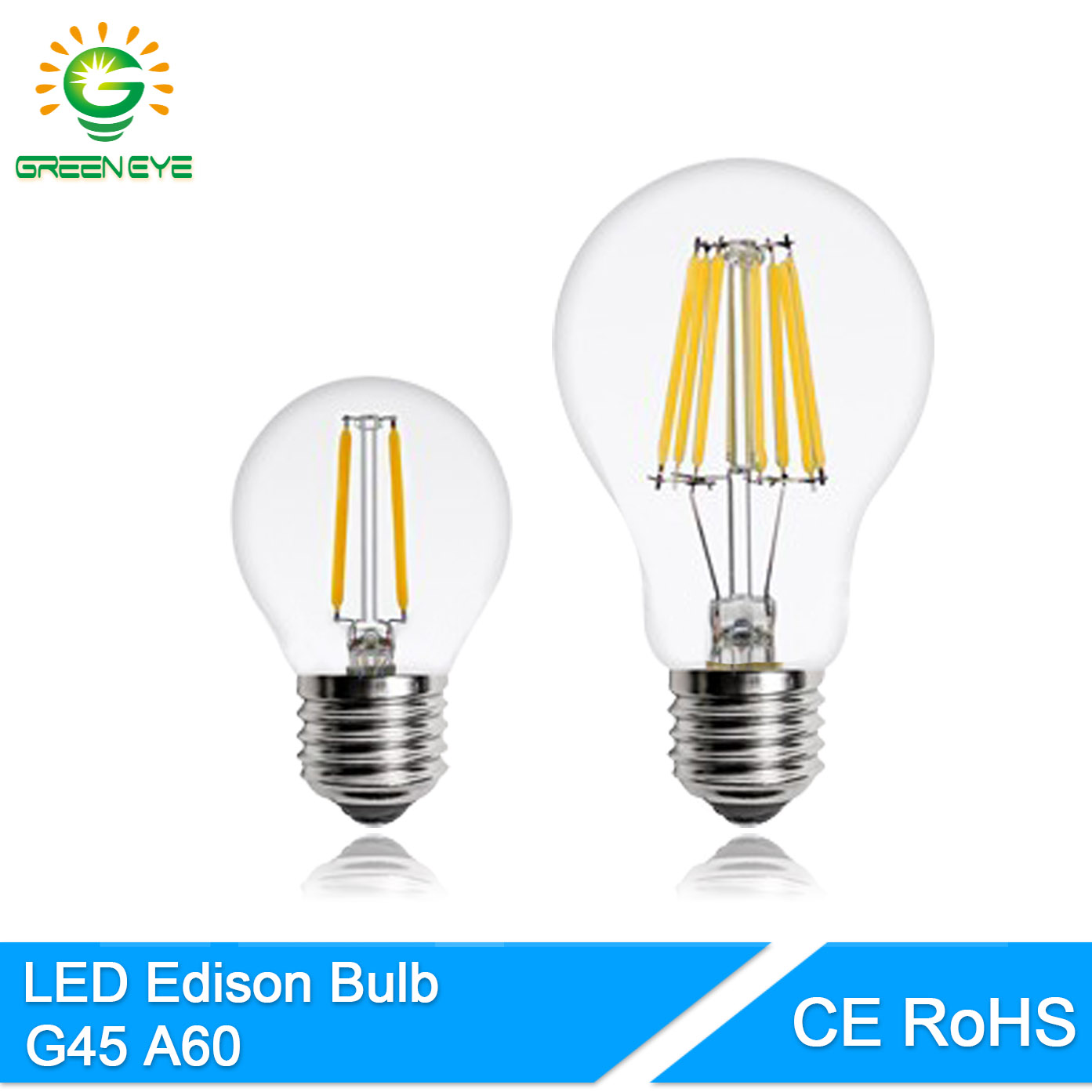 Retro Led E27 Greeneye Classical Retro Led Lamp Edison Bulb E27 4w 6w
