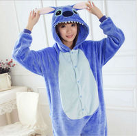 Cute Stitch Onesie Cosplay Costume Unisex Kigurumi Pajamas Animal Sleepwear