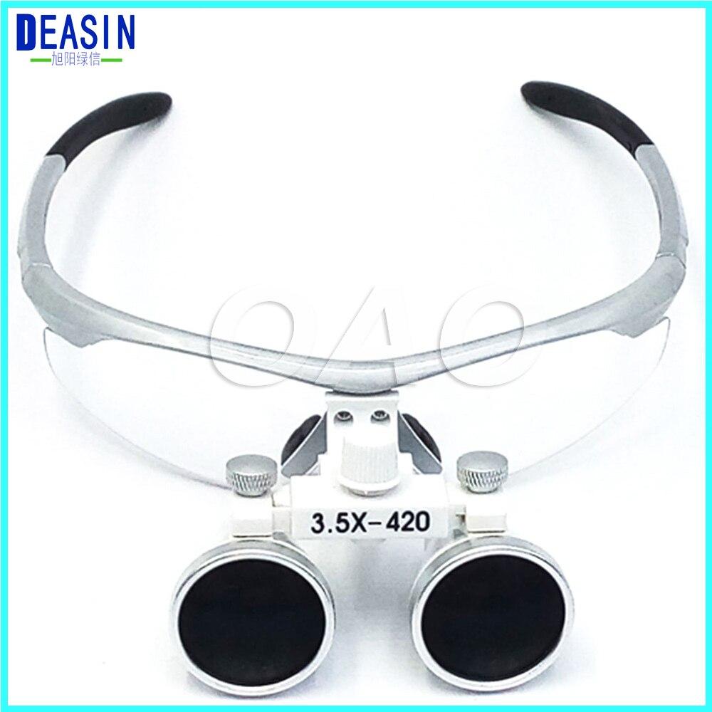 Dental Loupes dental glasses Dental equipment Surgical Medical Magnifier 3 5X 420mm