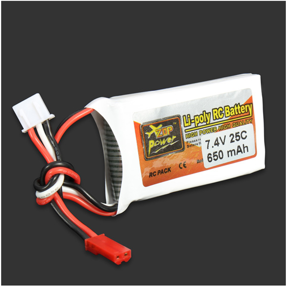 1pcs ZOP Power LiPo Battery 7.4V 650MAH 25C JST Plug For RC Quadcopter Drone Helicopter Car Airplane zop power rc lipo battery 3s 11 1v 900mah 30c max 60c jst plug for rc quadcopter drone helicopter car airplane