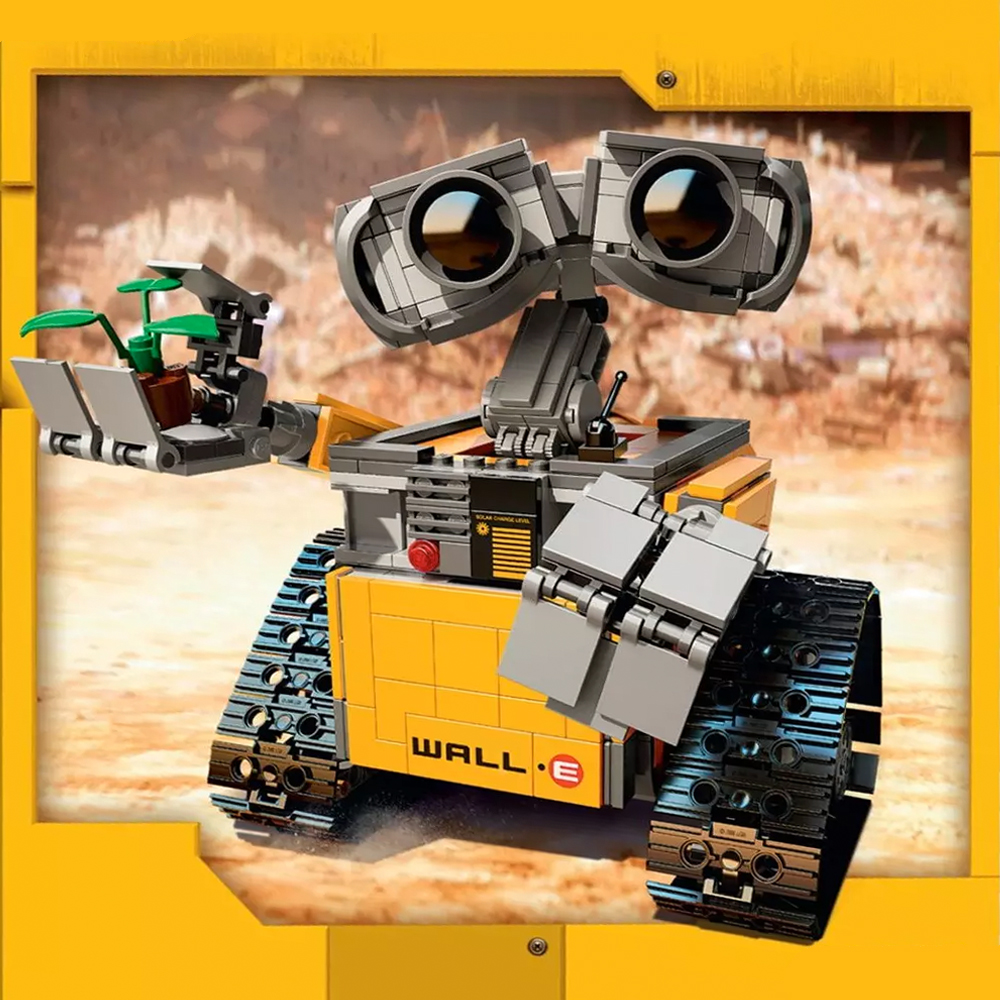 16003 <font><b>Legoings</b></font> Ideas WALL E Building Blocks Robot Model Building Kit Bricks Toys Children Compatible <font><b>legoe</b></font> <font><b>21303</b></font> Blocks DIY set image