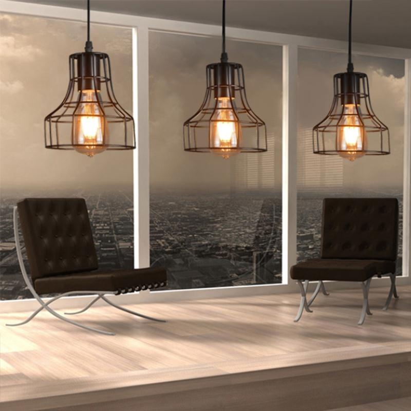 Loft Retro Hanging Lamp Industrial Minimalist Iron Pendant
