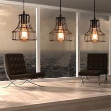 Loft Retro Hanging Lamp Industrial Minimalist Iron Pendant Light Bar Cafe Restaurant Warehouse E27 Lamp Holder