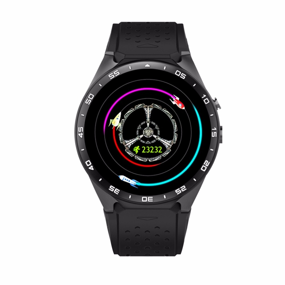 KING WEAR KW88 SmartWatch Pedometer Heart Rate Device Anti lost For Android 5 1 OS Support