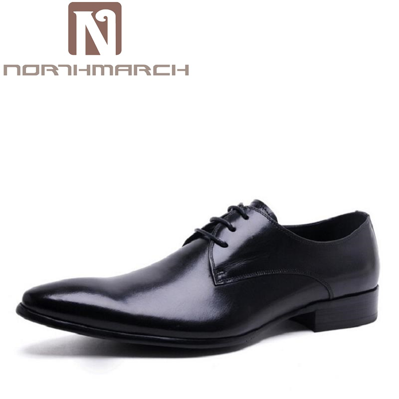 NORTHMARCH New High Quality Genuine Leather Man Business Shoes Man Woven Breathable Gentle Man Shoes Brand Heren Schoenen 2016 new high quality genuine leather men business casual shoes men woven breathable hole gentleman shoes brand taima 40 45