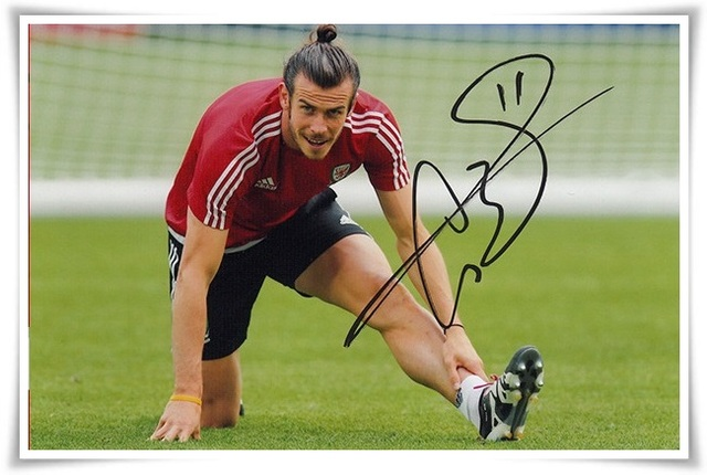 19189c185e3 Gareth Bale autographed signed with pen photo 4 6 inches sports star  freeshipping 07.2016 07