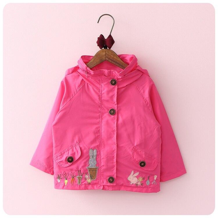 0fe7b7e1c85e7 Corea 2016 otoño los niños vestido de la historieta Bordado defensa  windbreaker suelta abrigo niña niño incluso sombrero cardigan chaqueta